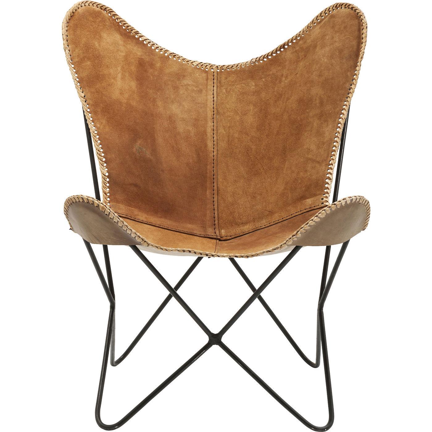 Billede af Kare Design Hvilestol m. Armlæn, Butterfly Suede Leather Brow