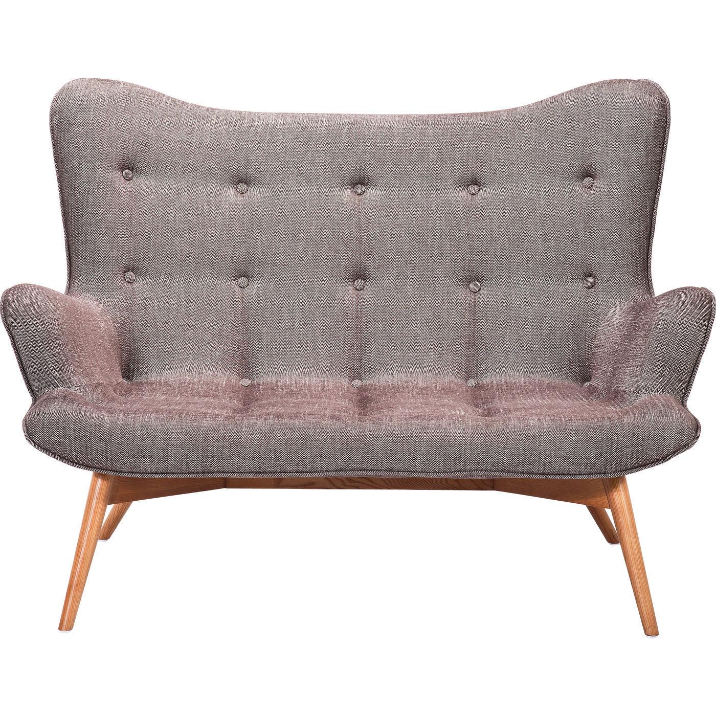 sofa angels wings i flot stof med knapm nster elegant. Black Bedroom Furniture Sets. Home Design Ideas