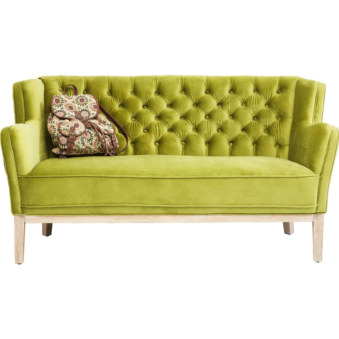 sofa coffee shop 2 pers i speciel gr n farve med knapper. Black Bedroom Furniture Sets. Home Design Ideas
