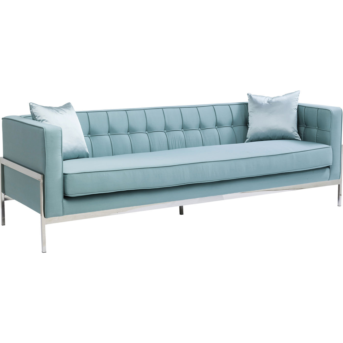 sofa stof 3 pers Loft 3 pers. Sofa i fint lyst polyester stof. Fine syninger sofa stof 3 pers