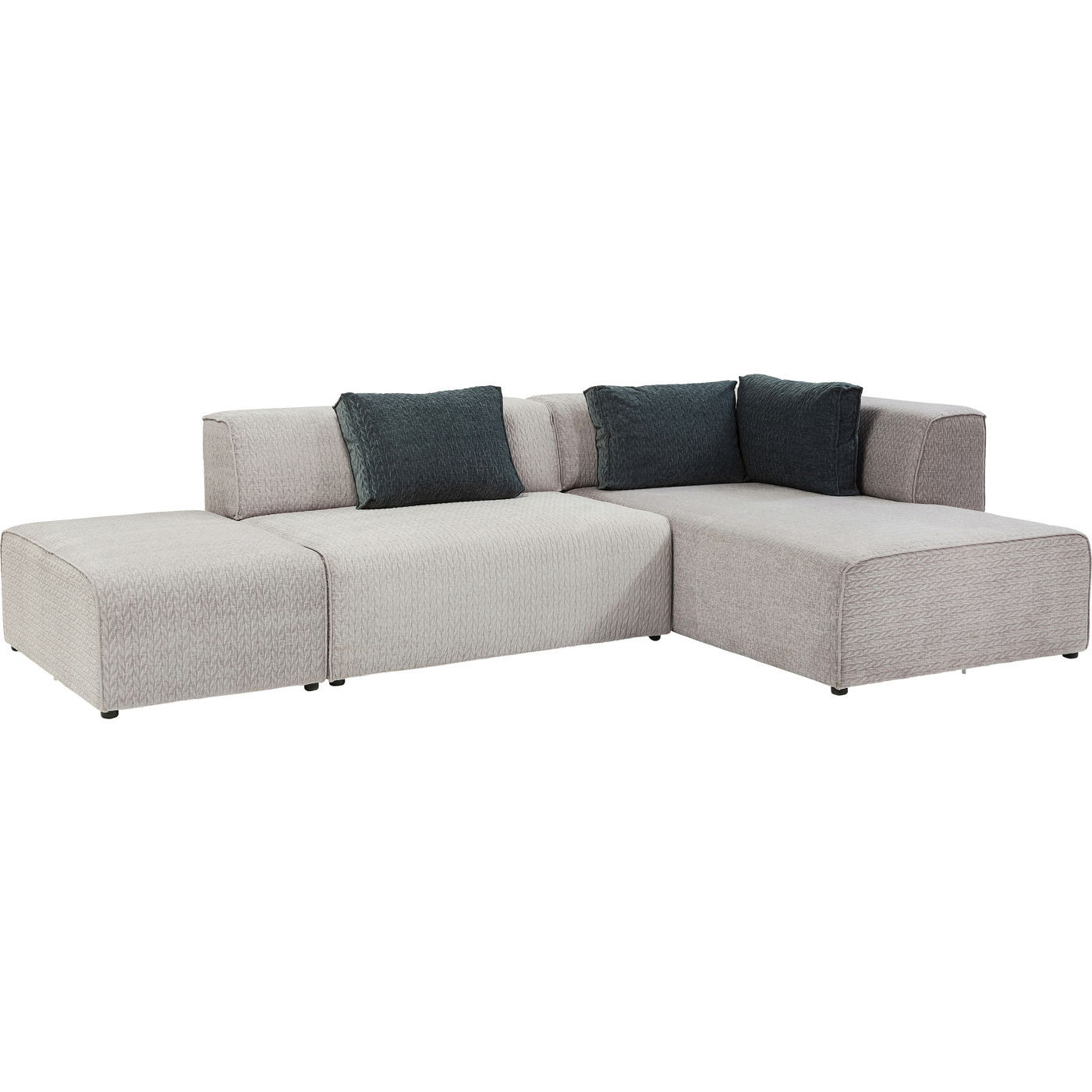 chaiselong sofa grå stof