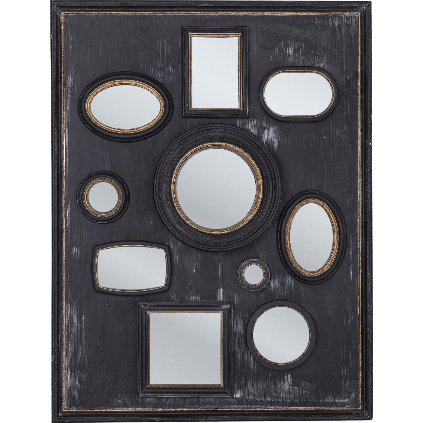 Billede af Kare Design Spejl, Collage m. Ramme Black 130x170cm