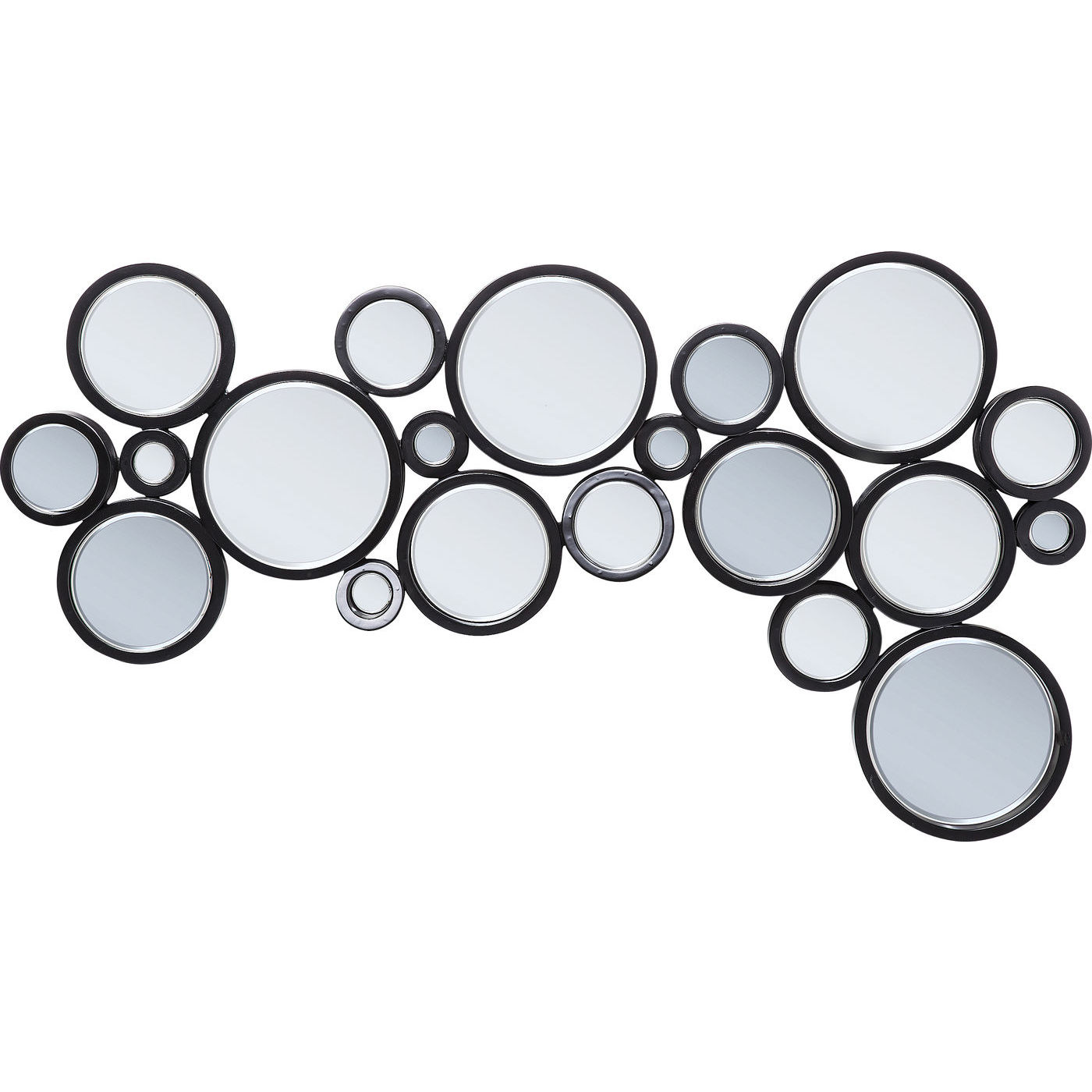 Image of   Kare Design Spejl, Circle Black 120x70cm