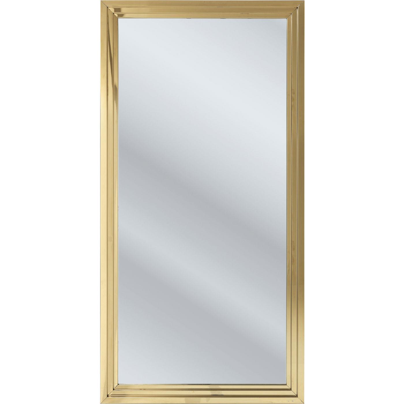 Billede af Kare Design Spejl, Steel Step Gold 180x90cm