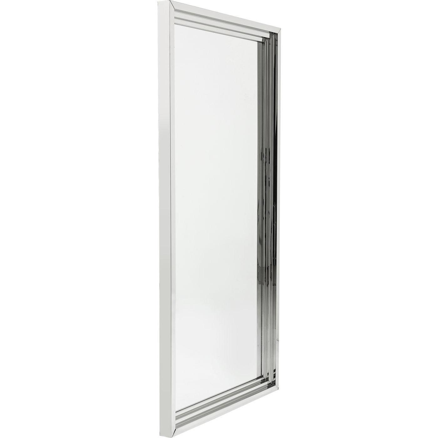 Billede af Kare Design Spejl, Steel Step Silver 180x90cm