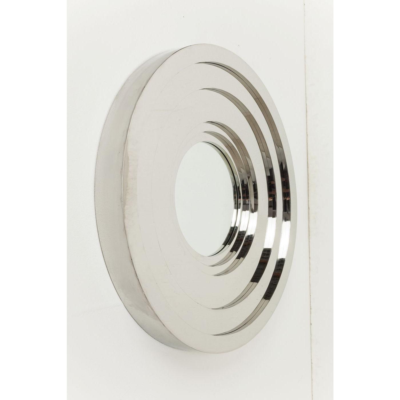 Billede af Kare Design Spejl, Steel Step Silver Round