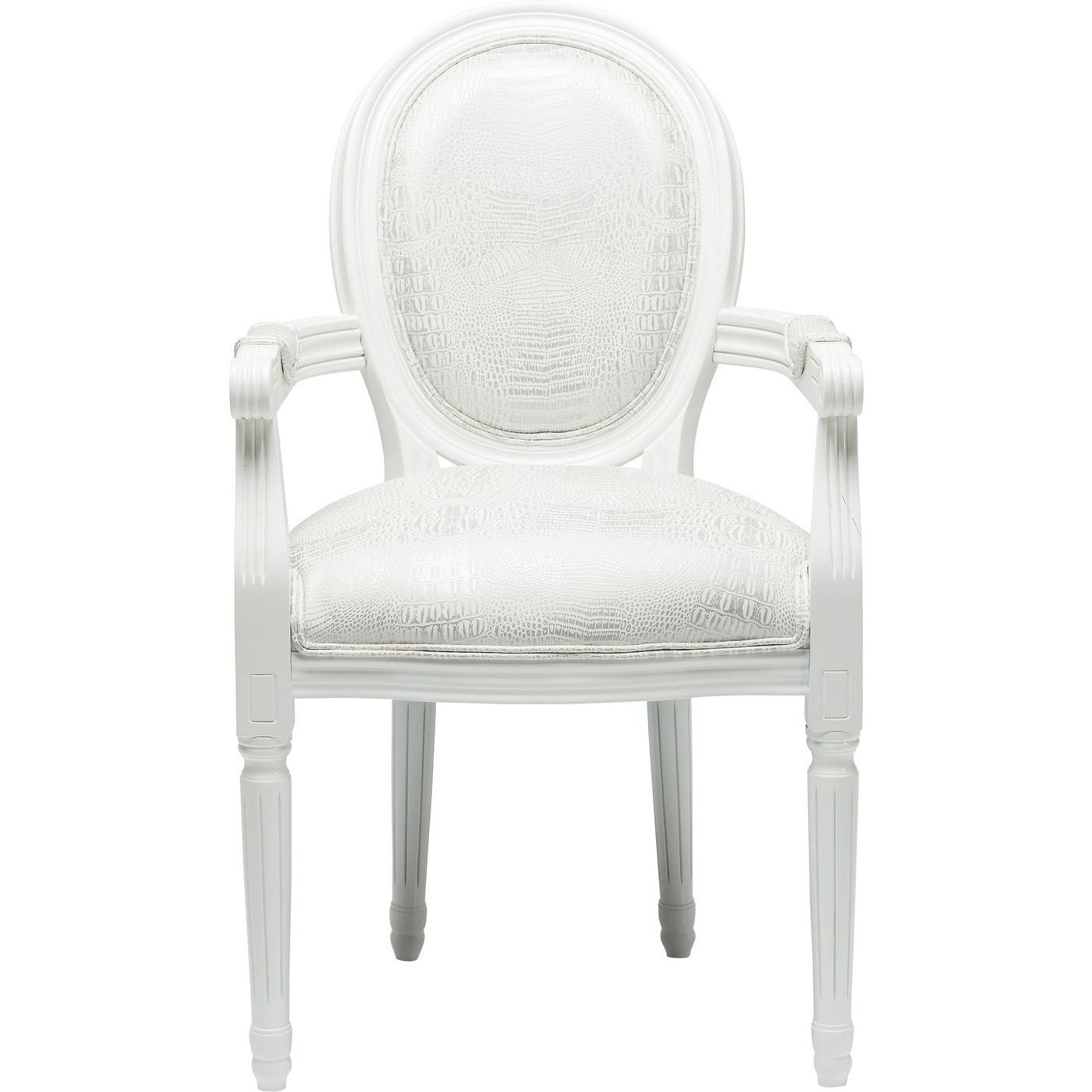 Image of   Kare Design Spisebordsstol m. armlæn, Gastro Louis White