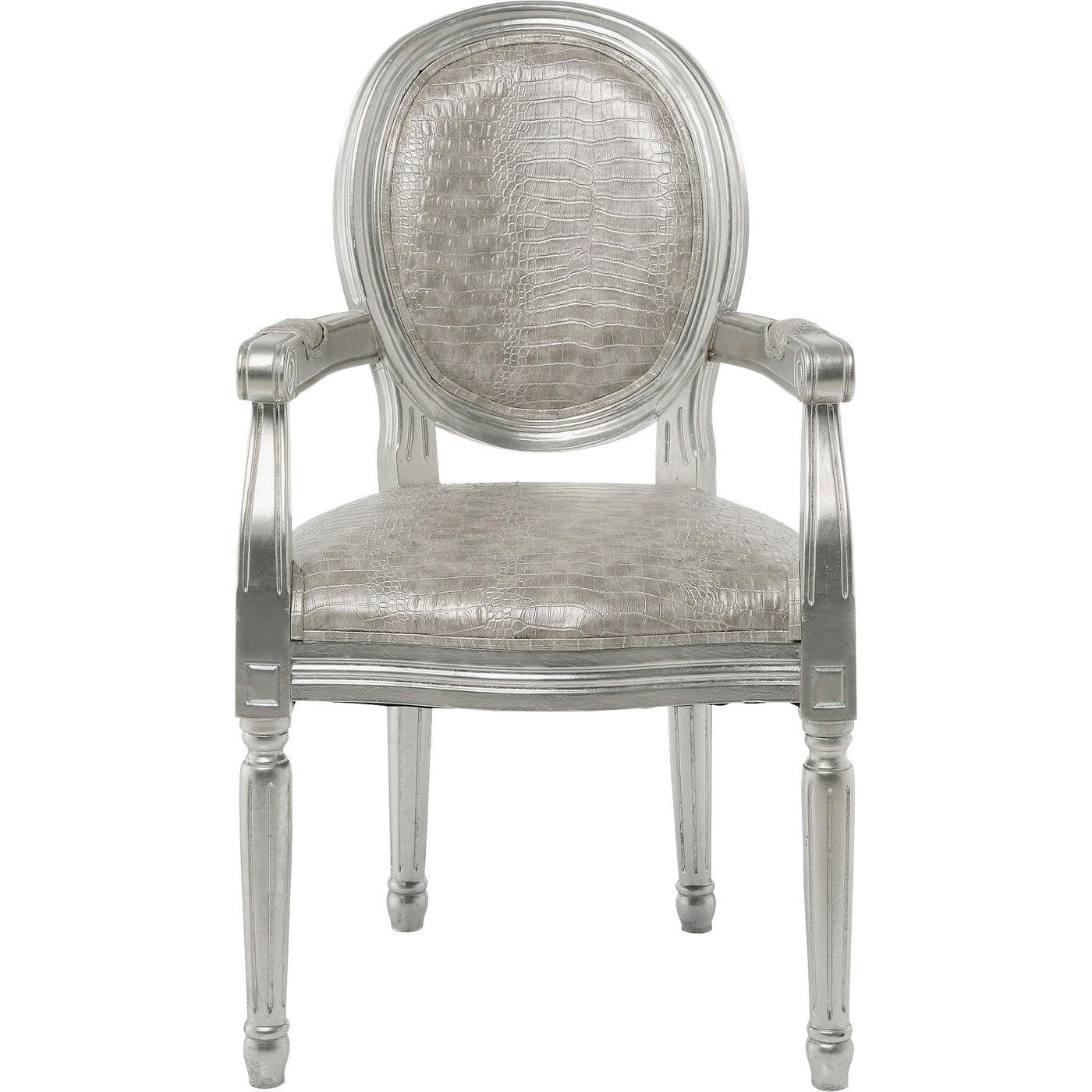 Image of   Kare Design Spisebordsstol m. armlæn, Gastro Louis silver