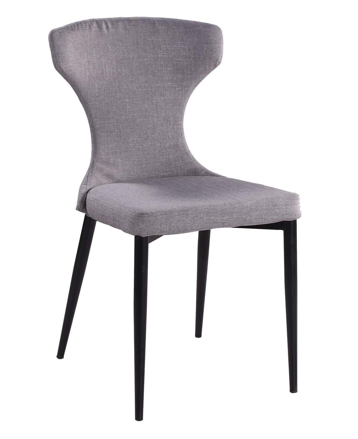 Preform freja spisebordsstol - gråt stof og sortlakeret metal