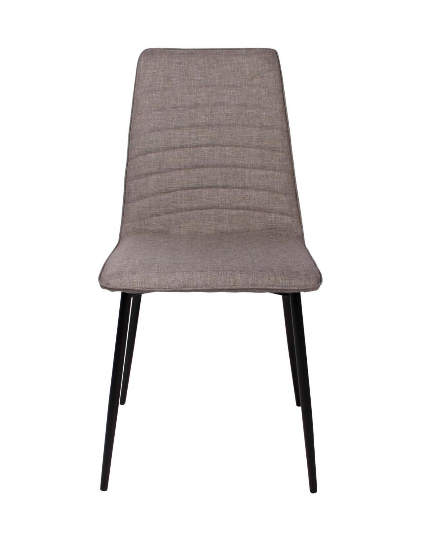 Preform lisa spisebordsstol - lysegrå stof m. stål stel