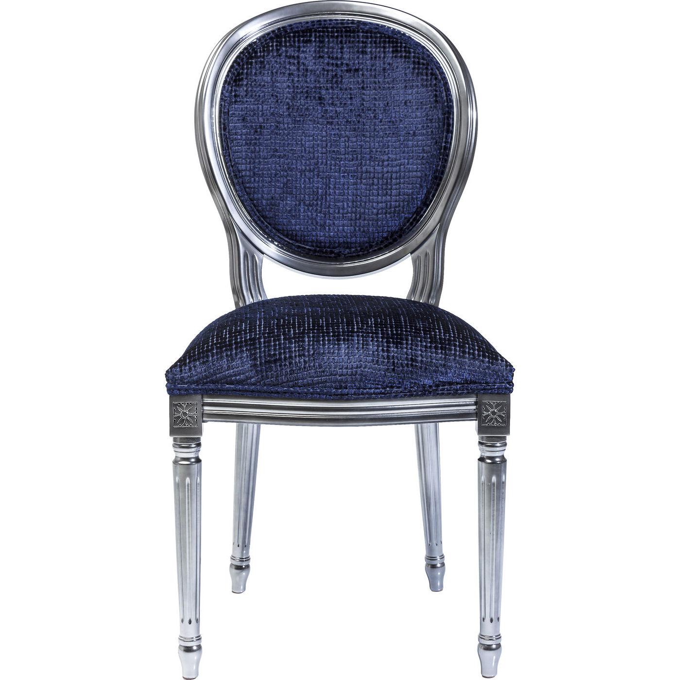 Image of   Kare Design Spisebordsstol, Posh Silver Dark Blue