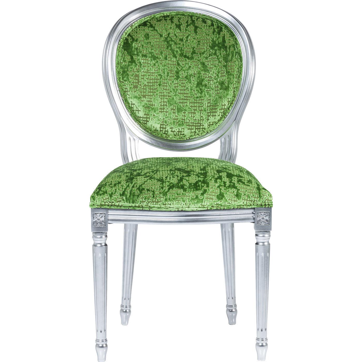 Image of   Kare Design Spisebordsstol, Posh Silver Green