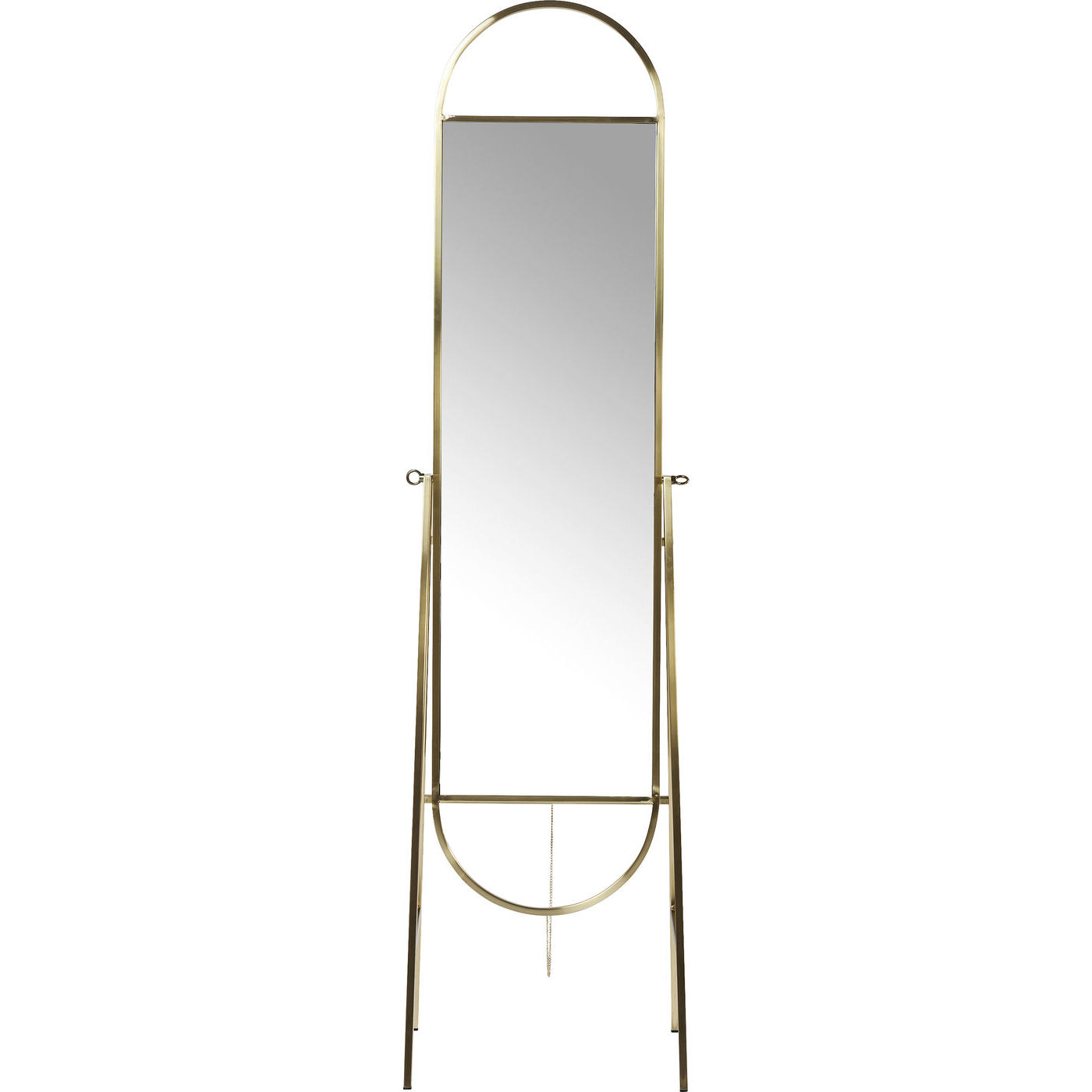 Image of   KARE DESIGN Standing Spejl, Casino Brass