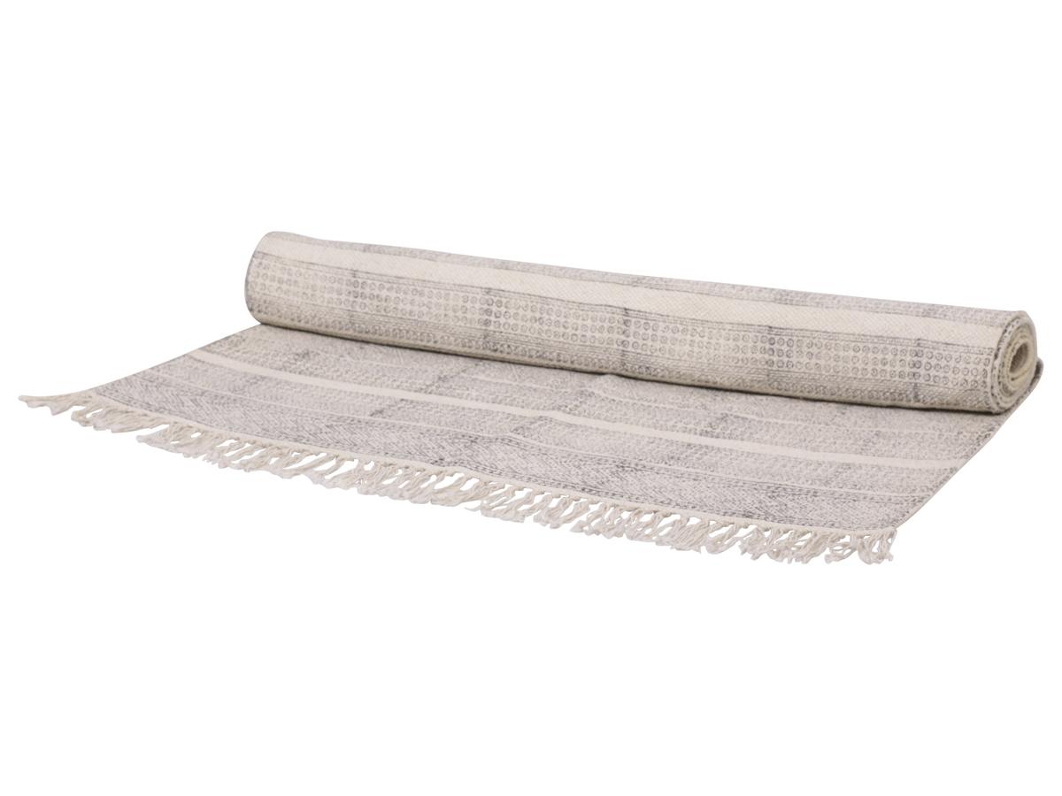 Billede af Chic Antique Tæppe med fransk print 100% bomuld