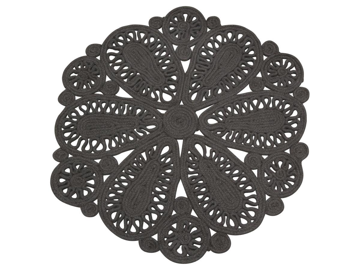Billede af Chic Antique håndlavet Jute Tæppe med mønster