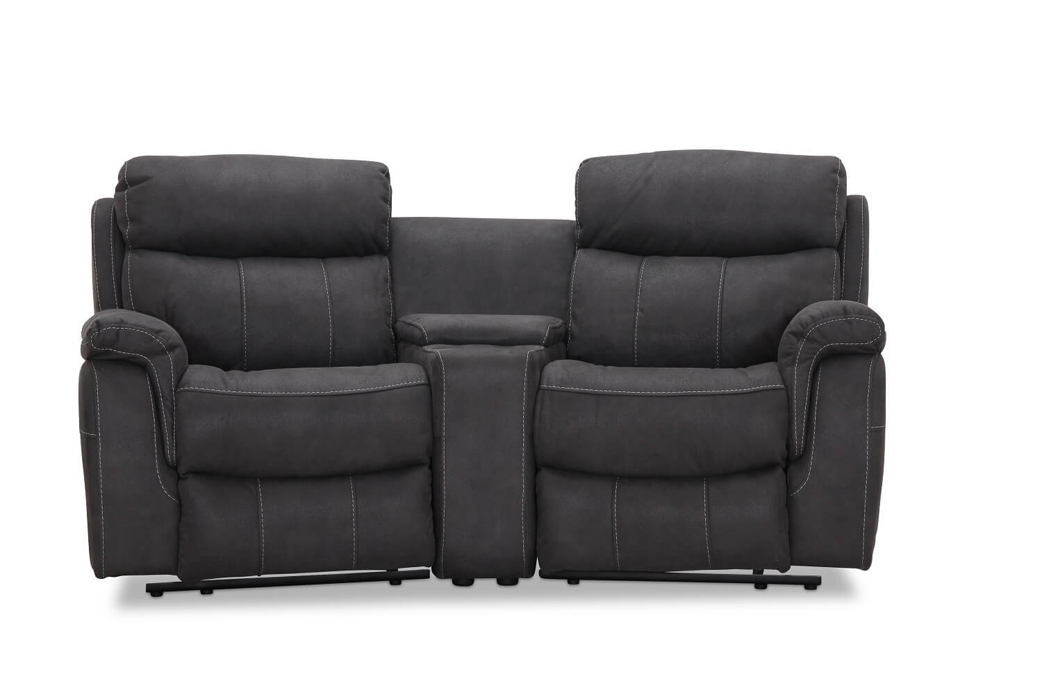 Image of   Arizona biografsofa recliner grå - 2 pers