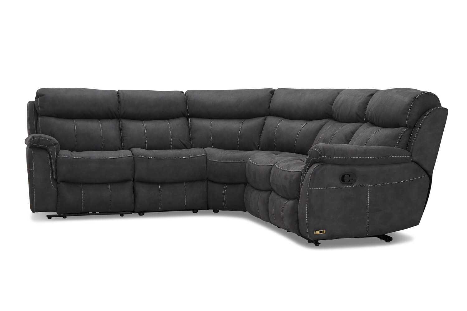 Image of   Arizona hjørnesofa recliner grå