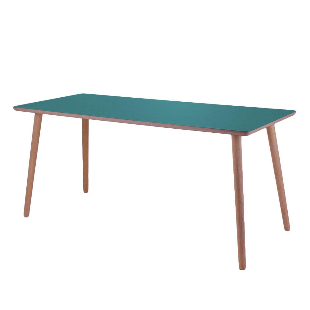 by tika – By tika grotto skrivebord - grøn/naturfarvet mdf træ, højtrykslaminat, rektangulær, (73x120cm) fra boboonline.dk