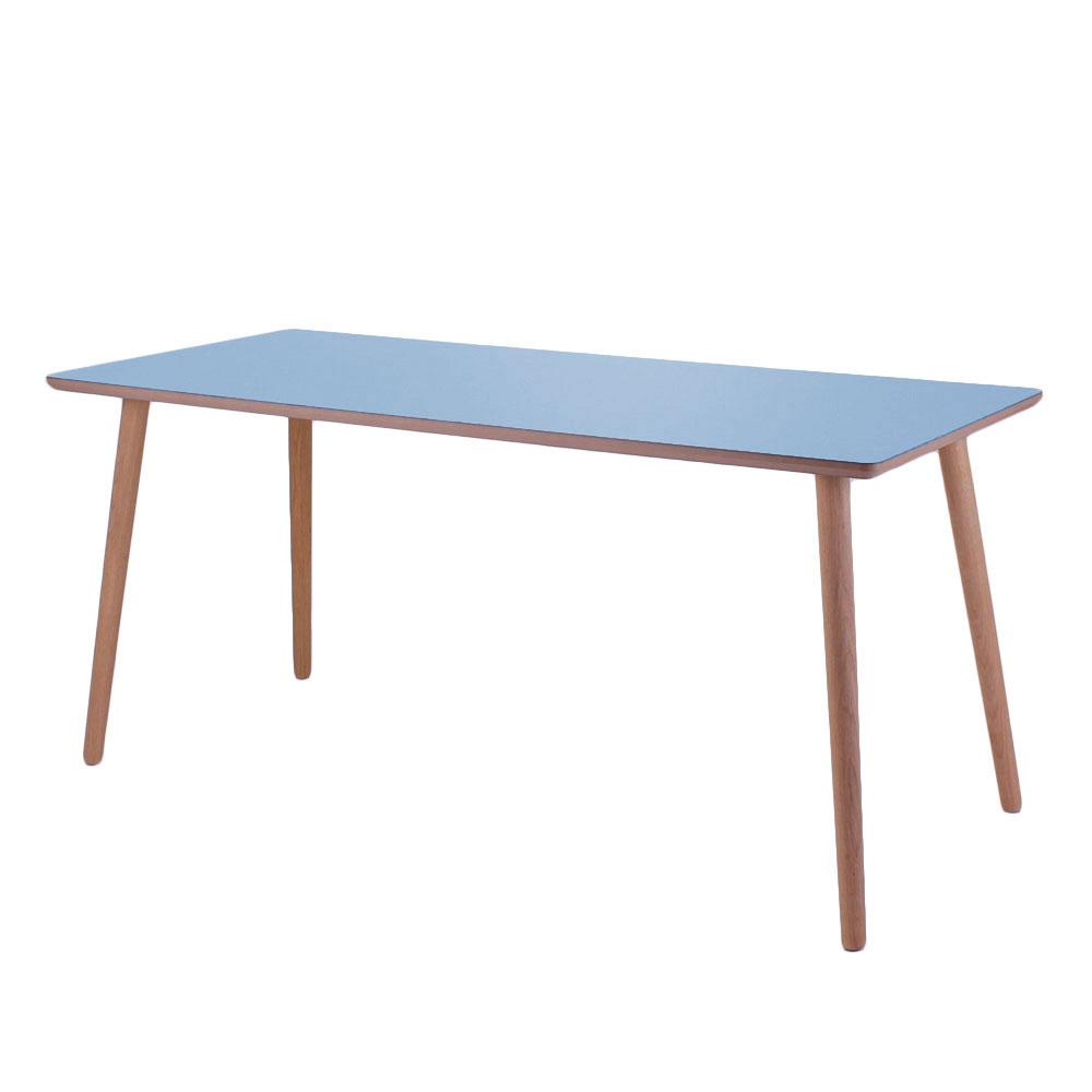 By tika just blue skrivebord - blå/naturfarvet mdf træ, højtrykslaminat, rektangulær, (73x120cm)
