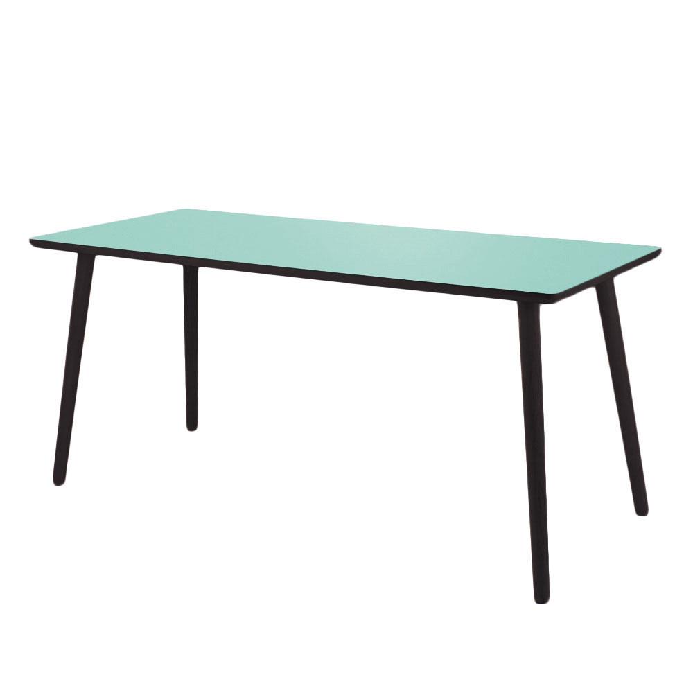 By tika dusty jade skrivebord - sort/grønfarvet mdf træ, højtrykslaminat, rektangulær, (73x120cm)