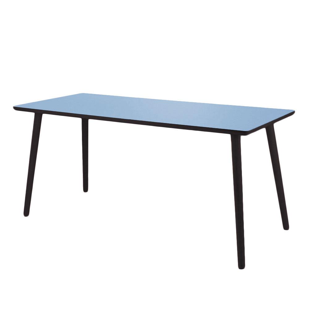 By tika just blue skrivebord - blå/sortfarvet mdf træ, højtrykslaminat, rektangulær, (73x120cm)