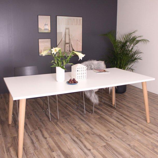 Sandefjord Spisebord hvid laminat