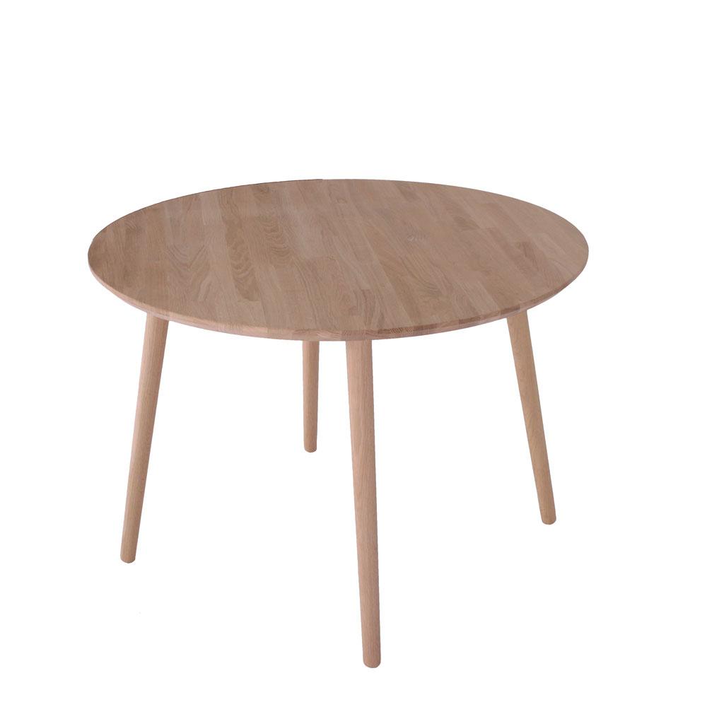 By tika trondheim rundt spisebord - naturfarvet egetræ, rund, (73x104x104cm)