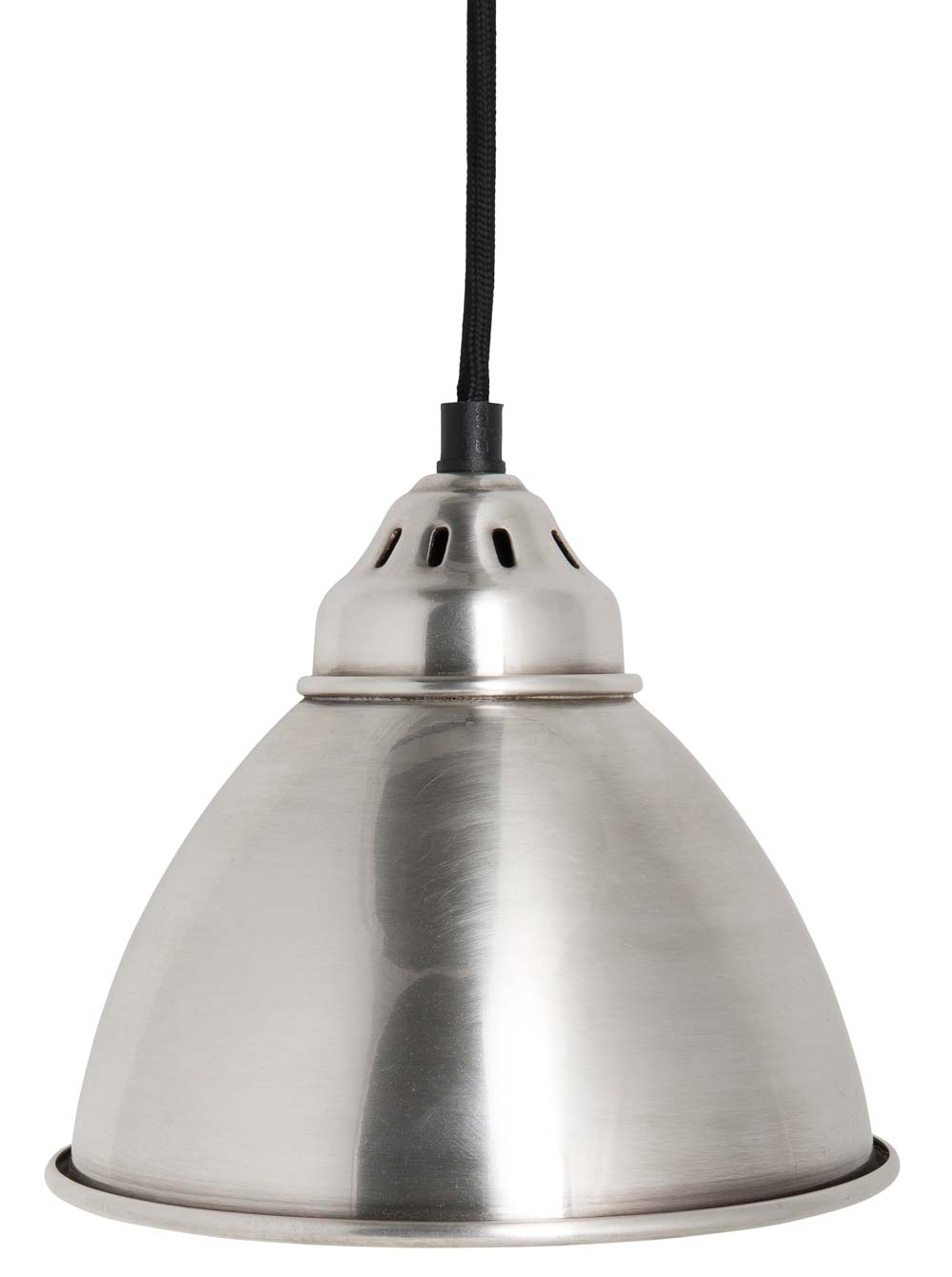 ib laursen Ib laursen hængelampe - sølv metal, ant.sølv finish, sort tekstil ledning på boboonline.dk