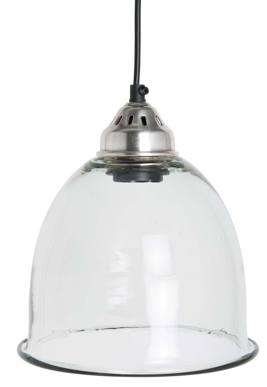 ib laursen – Ib laursen hængelampe soho - glas, klar sort plastik ledning på boboonline.dk