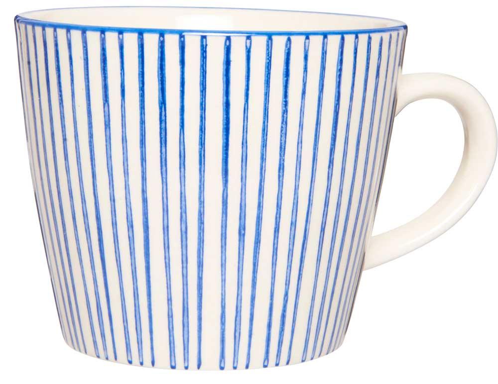 Ib laursen krus casablanca - blå/hvid stentøj fra ib laursen på boboonline.dk