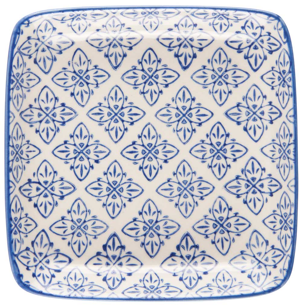 Ib laursen tallerken mini casablanca - blå/hvid stentøj fra ib laursen på boboonline.dk