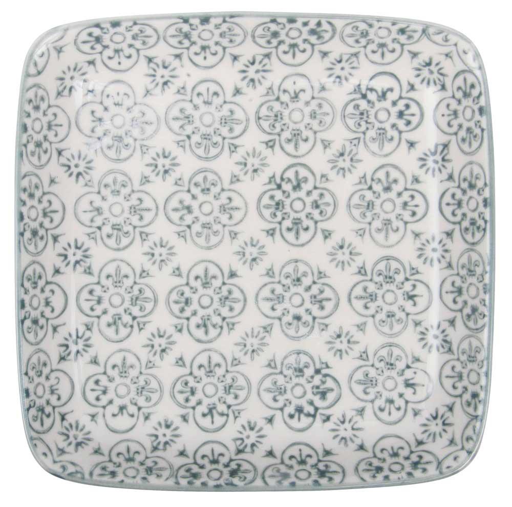 ib laursen Ib laursen tallerken mini casablanca - grå/hvid stentøj fra boboonline.dk