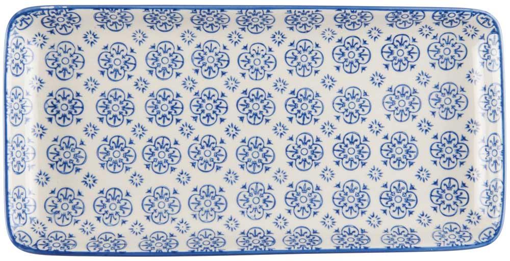 ib laursen Ib laursen fad casablanca - blå/hvid stentøj, (3x13cm) fra boboonline.dk