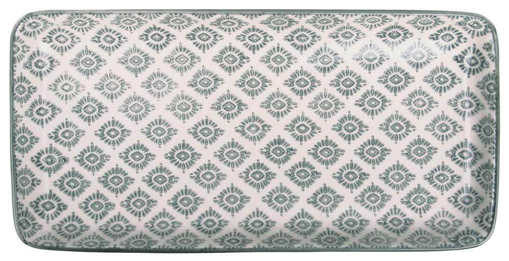 ib laursen Ib laursen fad casablanca - grå/hvid stentøj, (3x13cm) fra boboonline.dk