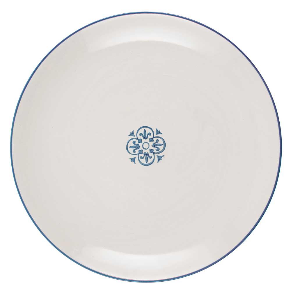 ib laursen – Ib laursen tallerken rund casablanca - blå/hvid stentøj på boboonline.dk