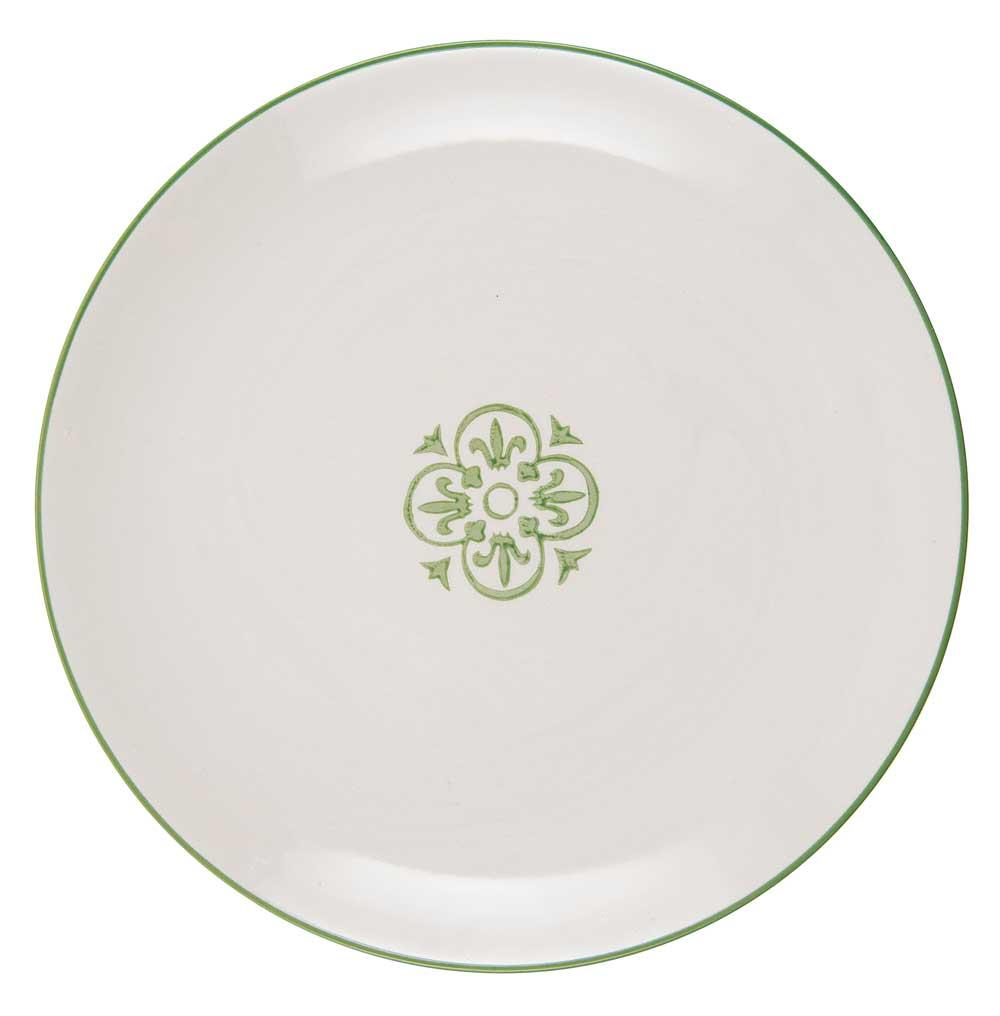 ib laursen Ib laursen frokosttallerken casablanca - grøn/hvid stentøj på boboonline.dk