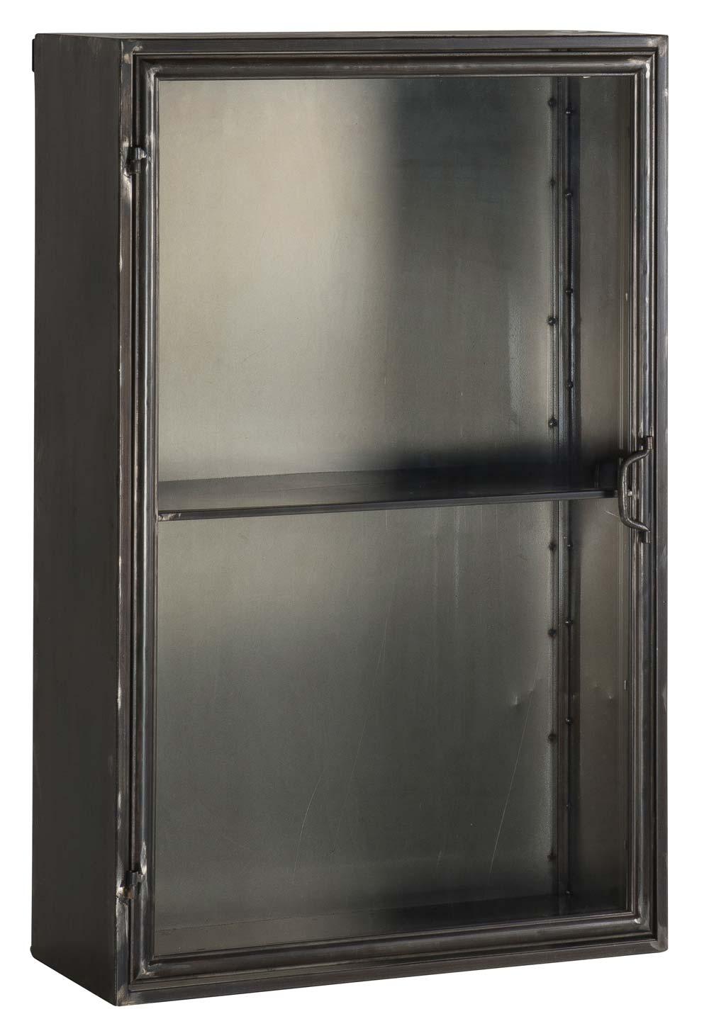 ib laursen Ib laursen brooklyn vægskab - grå glas og metal, 1 hylde, u. beslag (køb til vægtype), (90x26cm) på boboonline.dk
