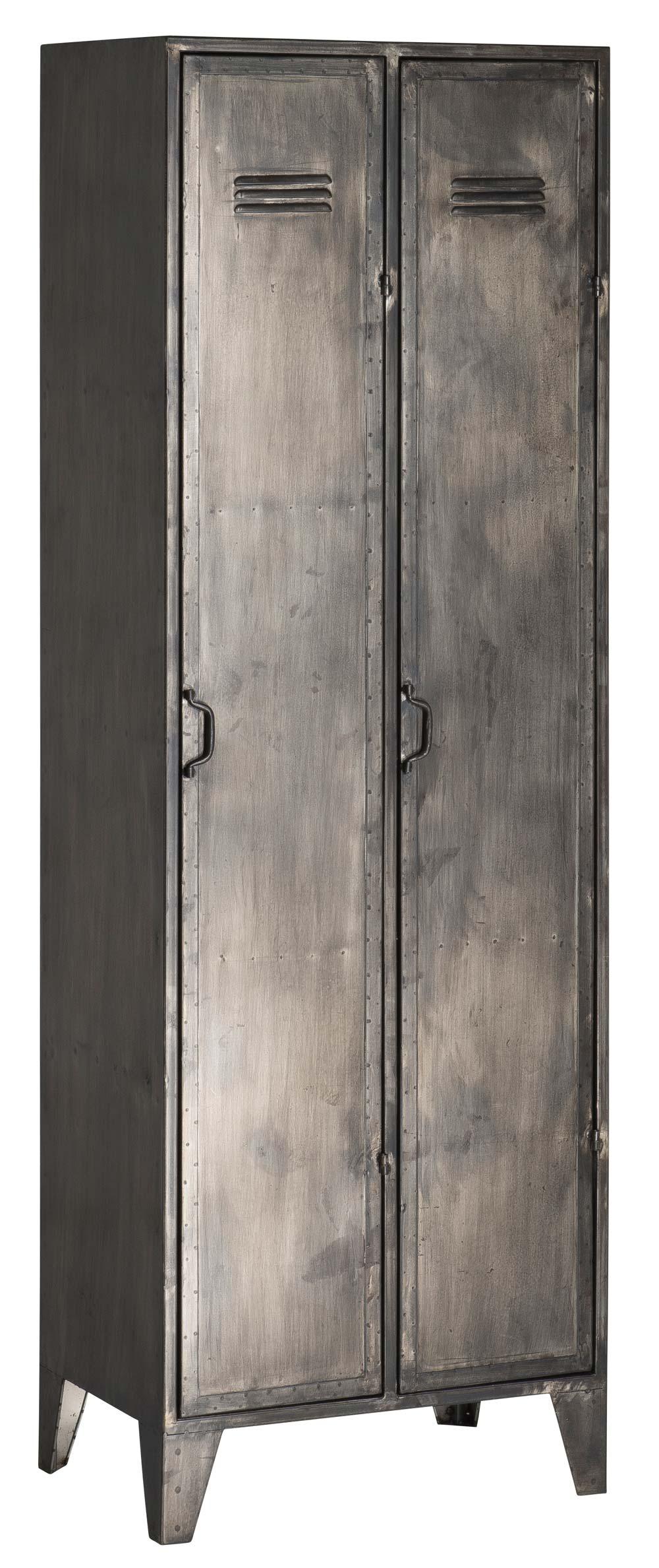 Image of   IB LAURSEN Brooklyn skab - grå metal, m. 2 døre højre sving, (180x40cm)