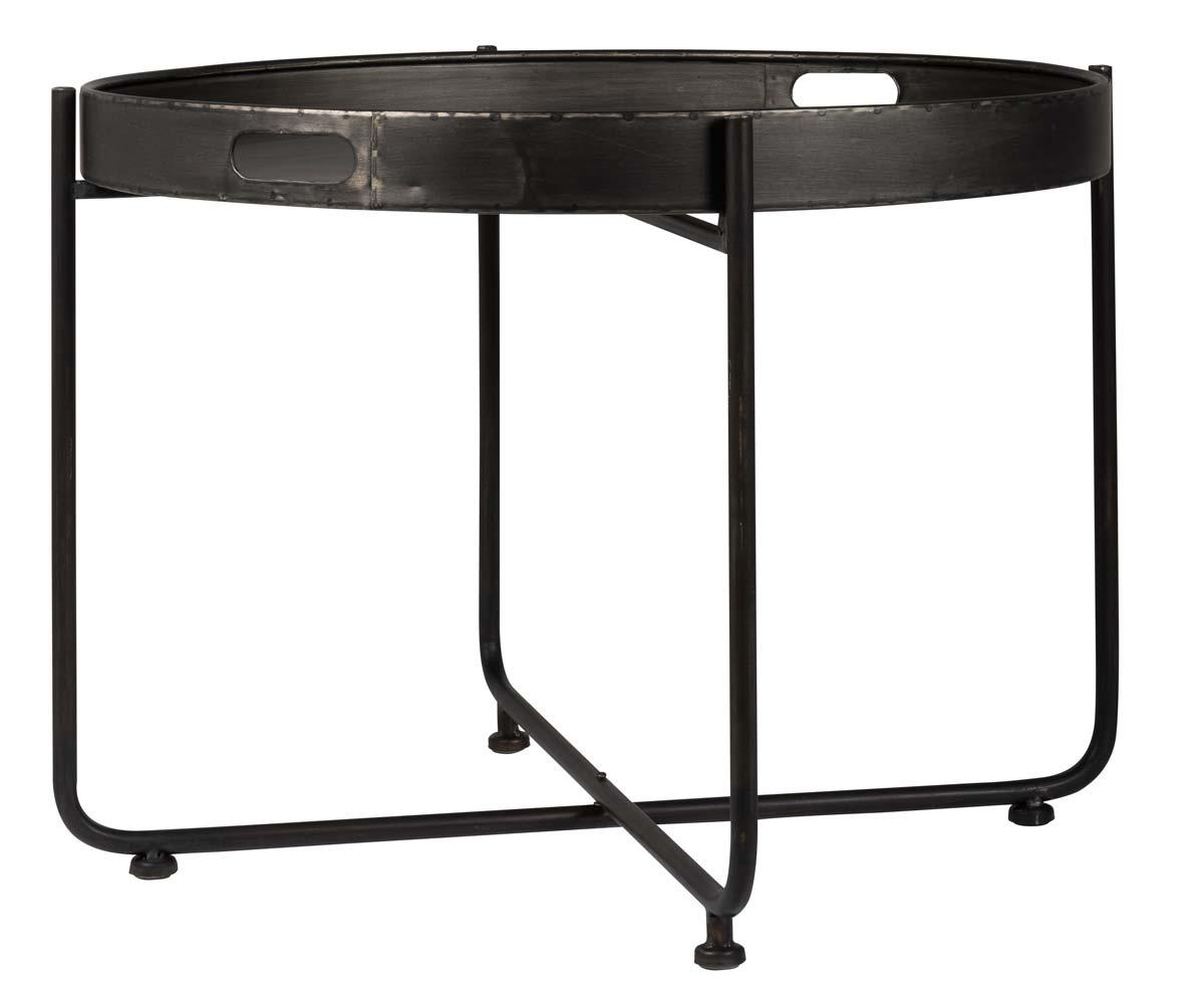 Ib laursen brooklyn bakkebord - sort metal, rund, 2-delt, (58x75cm) fra ib laursen på boboonline.dk