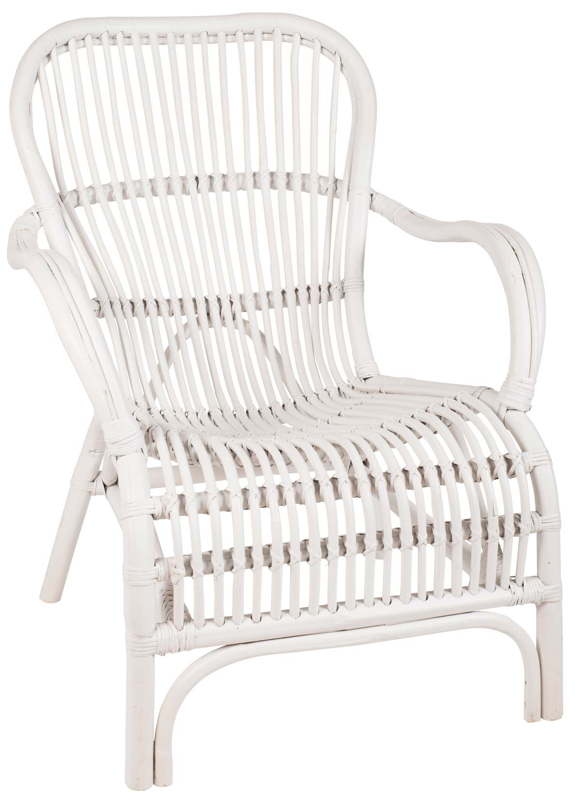 Image of   IB LAURSEN Lænestol rattan hvid