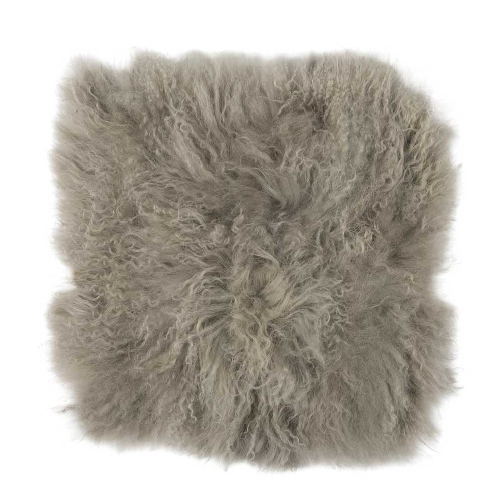 ib laursen – Ib laursen tibetansk sædeskind - brun skind, sammensyet af skindrester, kvadratisk, (40x40cm) på boboonline.dk