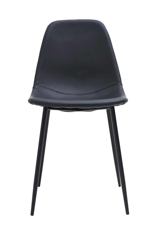 house doctor House doctor forms spisebordsstol - sort kunstlæder, uden armlæn fra boboonline.dk