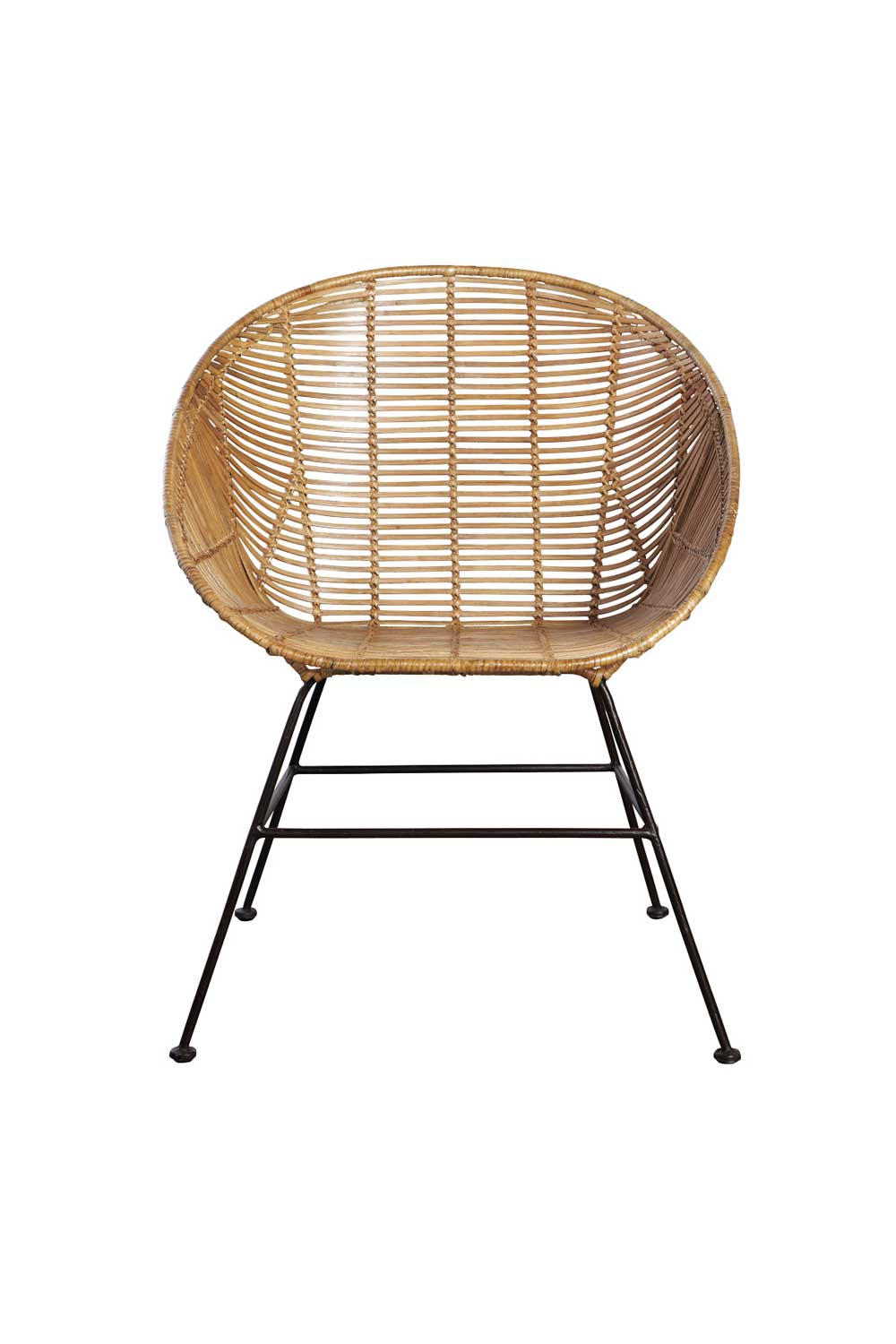 HOUSE DOCTOR Retro loungestol - naturfarvet rattan