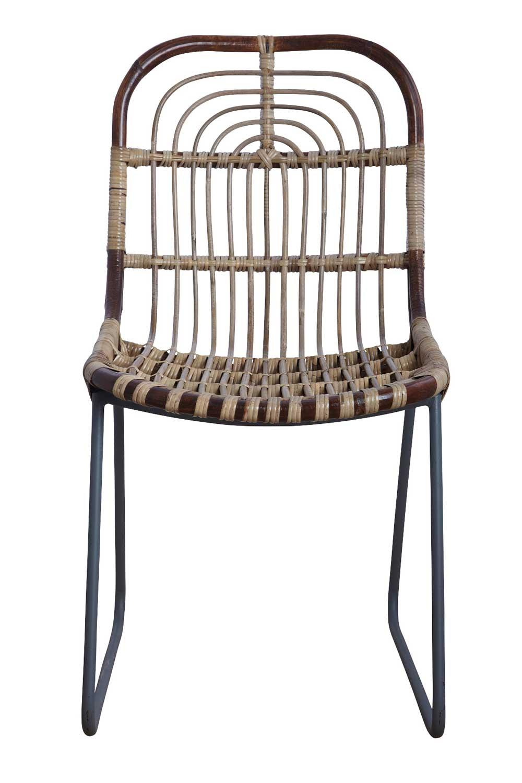 house doctor – House doctor kawa spisebordsstol - brun rattan, uden armlæn på boboonline.dk