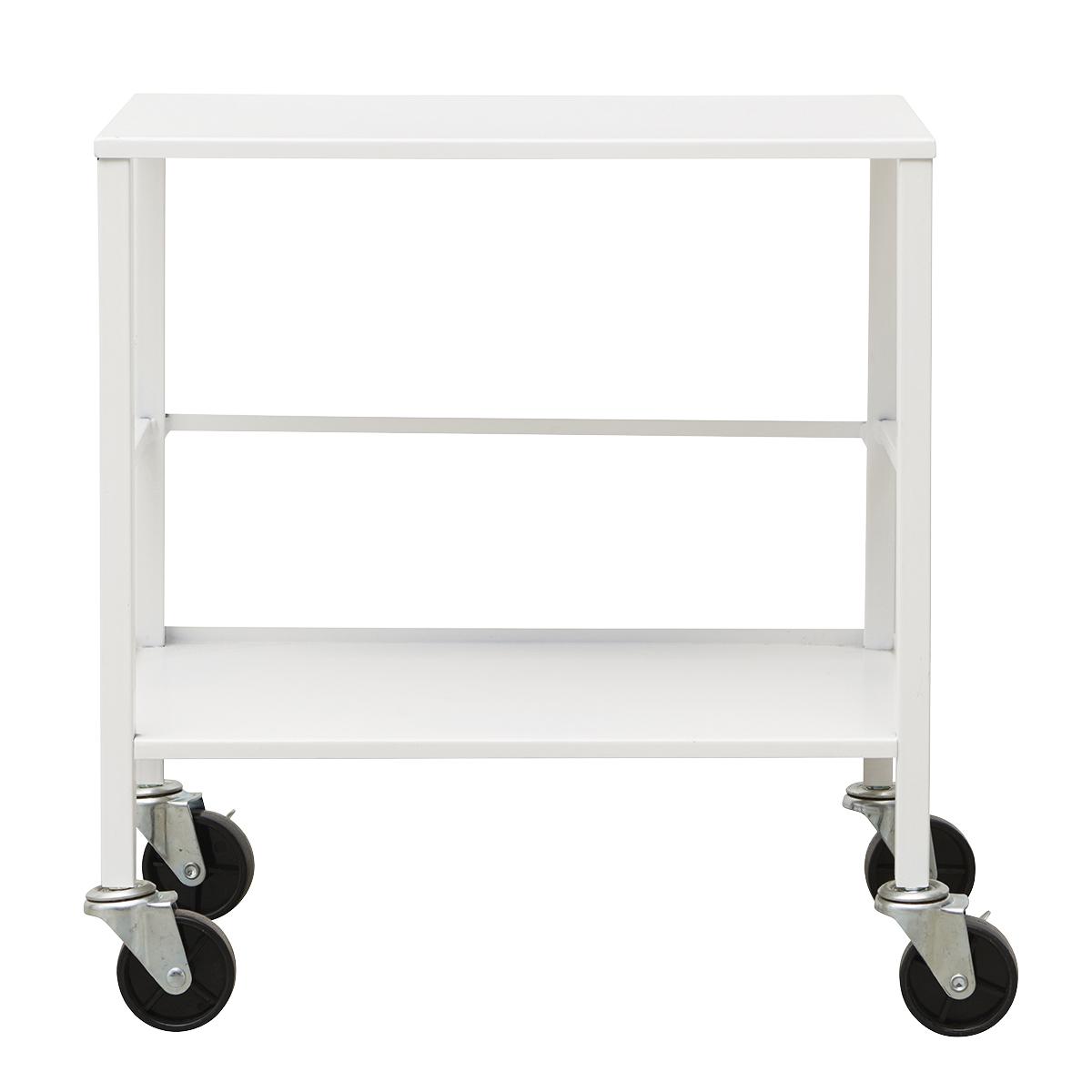 house doctor – House doctor office trolley - hvid metal, 2 hylder, (55x35cm) på boboonline.dk
