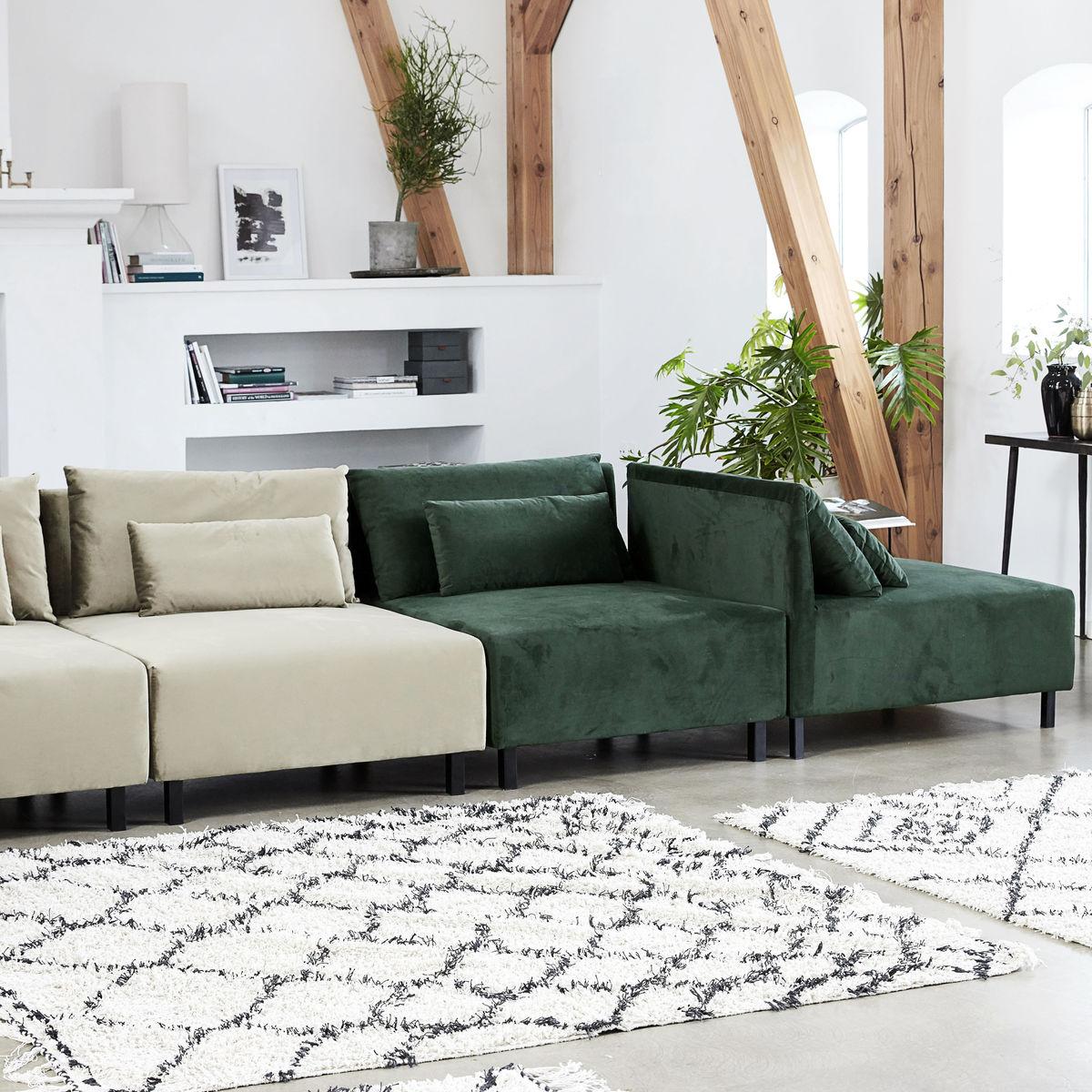 House Doctor Box sofa m. 2 puder i ryggen. Flot grøn farve