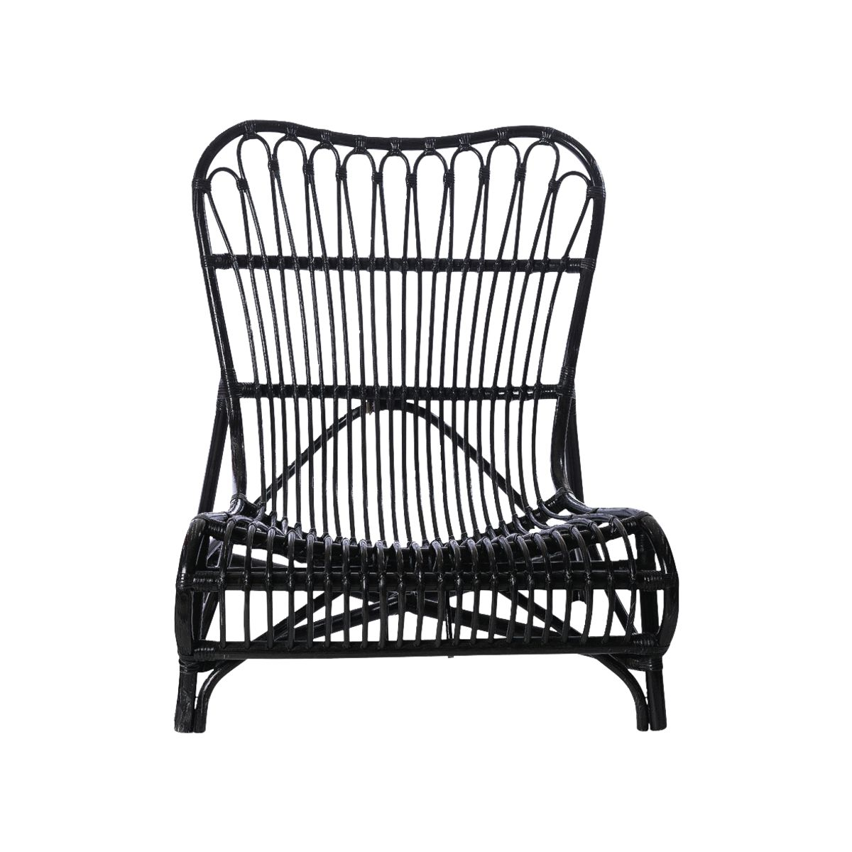 Image of   HOUSE DOCTOR Colone loungestol - sort rattan
