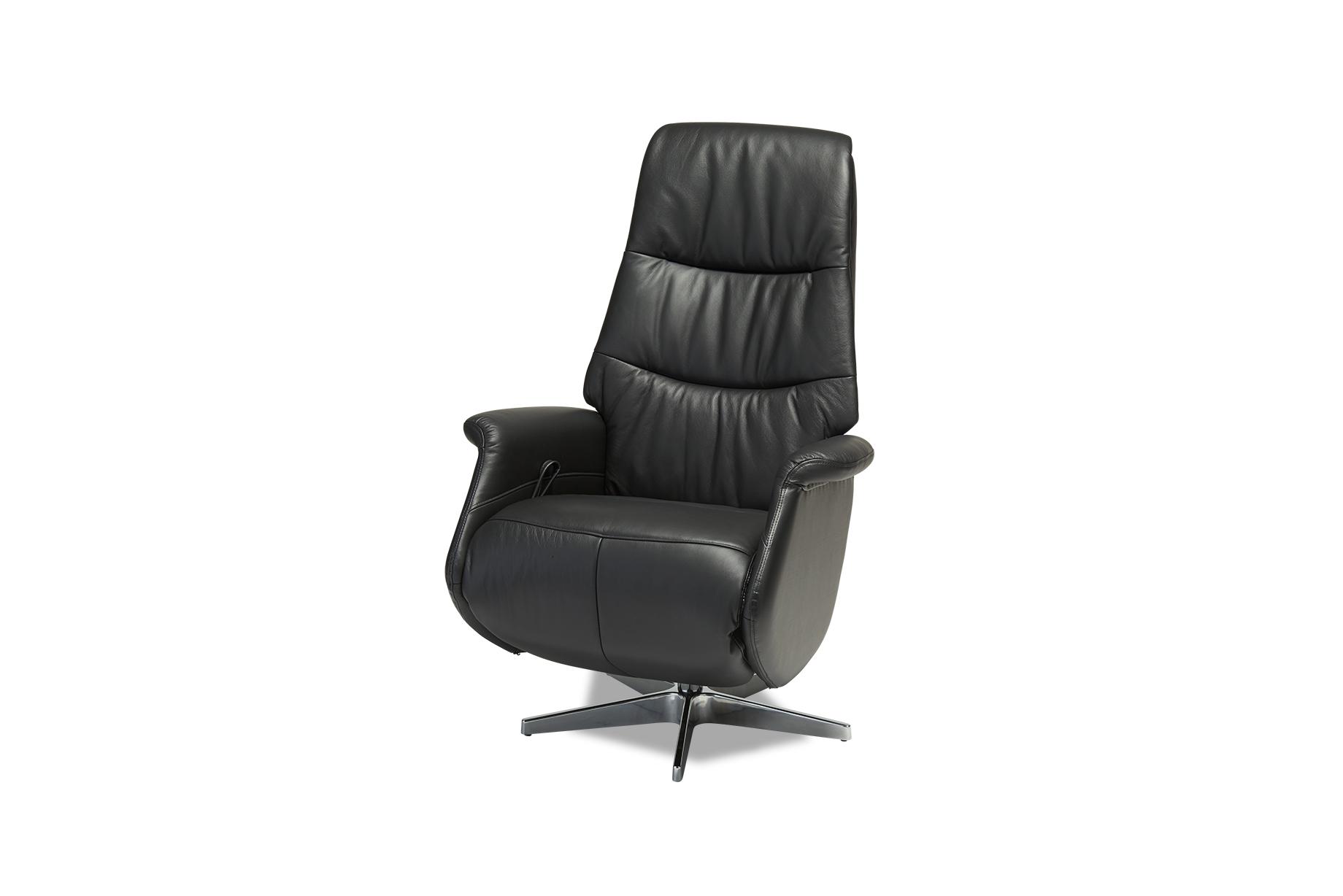 Image of   Delta lænestol - sort ægte læder