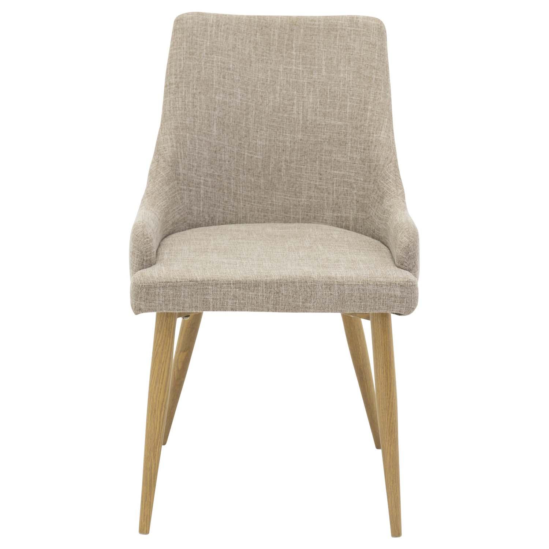 Venture Design Venture Design Plaza Spisebordsstol, M. Armlæn - Lysegrå Polyester Og Metal Spisestue