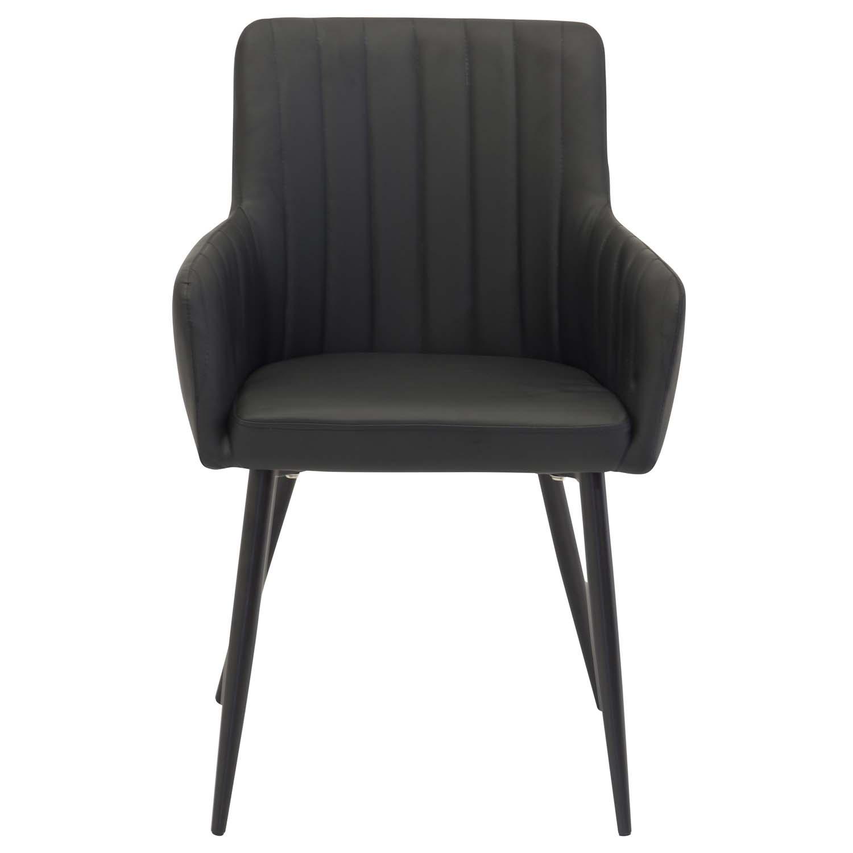 venture design – Venture design comfort spisebordsstol, m. armlæn - sort polyester og metal fra boboonline.dk